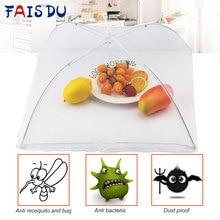 1 шт., кухонный сложенный сетчатый защитный чехол для еды, большой всплывающий сетчатый экран, анти-Летающий москитный зонтик, гигиеническая сетка, кухонная посуда для пикника