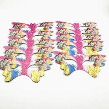 10Pcs Disney Six princess Theme Upper Half Face Mask Kids Birthday Party Favor Cartoon Mask Decoration Baby Shower supplies