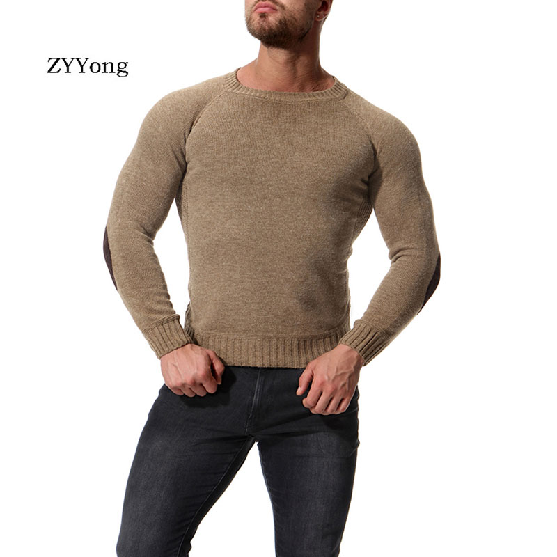 ZYYong Autumn And Winter Men's Sweaters Solid Color Round Neck Casual Comfortable High Quality Men's Slim Brand Men's Pullovers