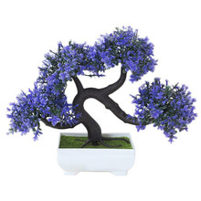 Plastic Kunstmatige Planten Boom Bonsai Groet Grenen Ingemaakte Home Office Decor 1x(China)