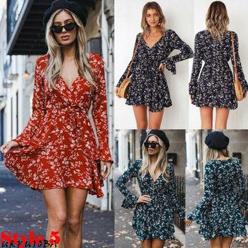 Sexy Strapless Beach Summer Dress Sundresses Vintage Bohemian Mini Robe Femme Boho Floral Women Fashion dress hot Vestido