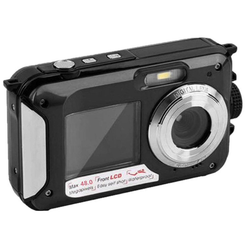 48MP Underwater Waterproof Digital Camera Dual Screen Video Camcorder Point and Shoots Digital Camera VDX99 image