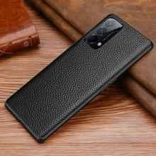 Étui en cuir véritable pour Oppo Reno 5 Pro Plus, housse de protection complète anti chocs, Fundas, 5K