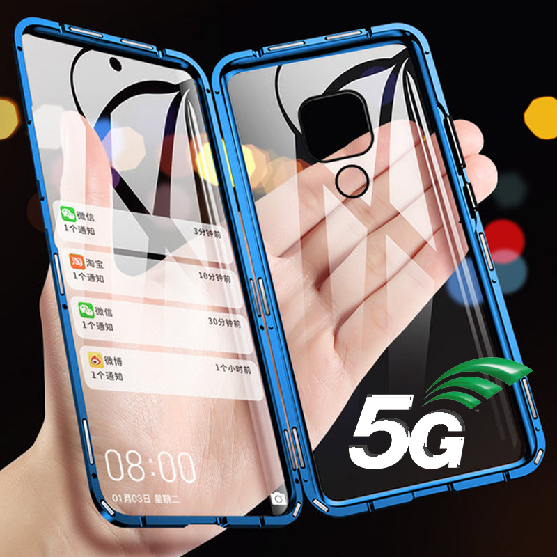 360 Full Magnetic Phone Case For Huawei Mate 20X 5G Mate 20X Double Sided Glass Cover Metal Bumper Honor Note 10 9X 20 Play Case image