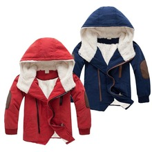 Girls Jacket Hooded Outerwear Kids Coats Teenage Winter Children Cotton Boys Thick High-Quality