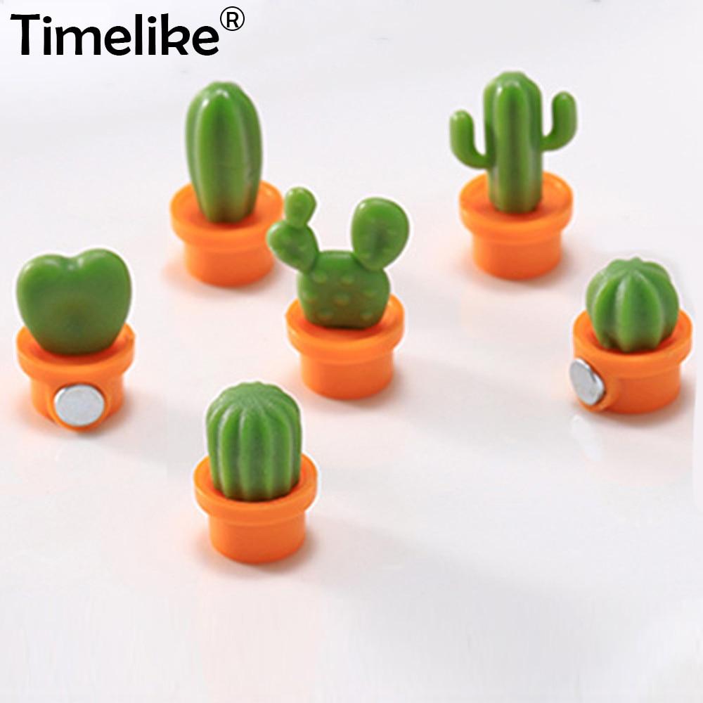 6pcs Succulent Plant Magnet Button Cactus Refrigerator Message Sticker Magn XI