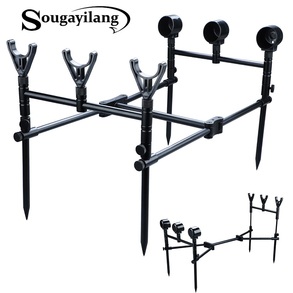 Sougayilang Carp Fishing Rod Pod Stand Holder Fishing Rod Stand Aluminium And ABS Adjustable Carp Fishing Pole Pod Holder