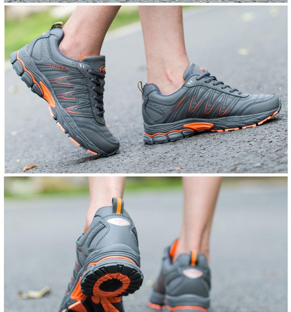 H4d3bf732fed64f8884e4f952e58b2d2el BONA 2019 New Designers Casual Shoes Men Style Cow Split Sneakers Male Lightweight Outdoor Fashion Footwear Man Trendy Comfy