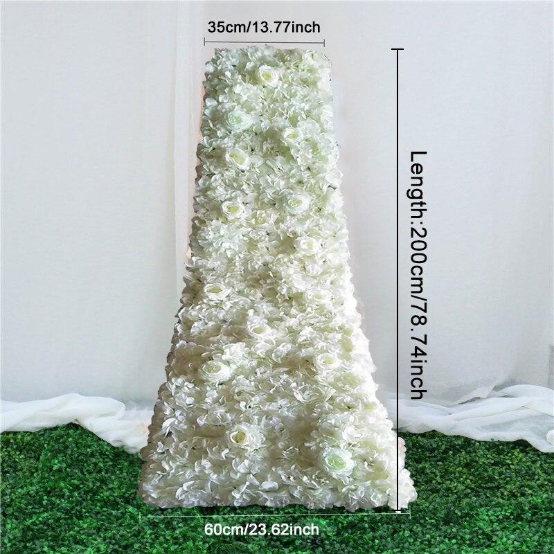 200cm personnalisé bricolage chemin de table de mariage floral toile de fond décor traînant fleur rangée arrangement fournitures fleurs artificielles fête