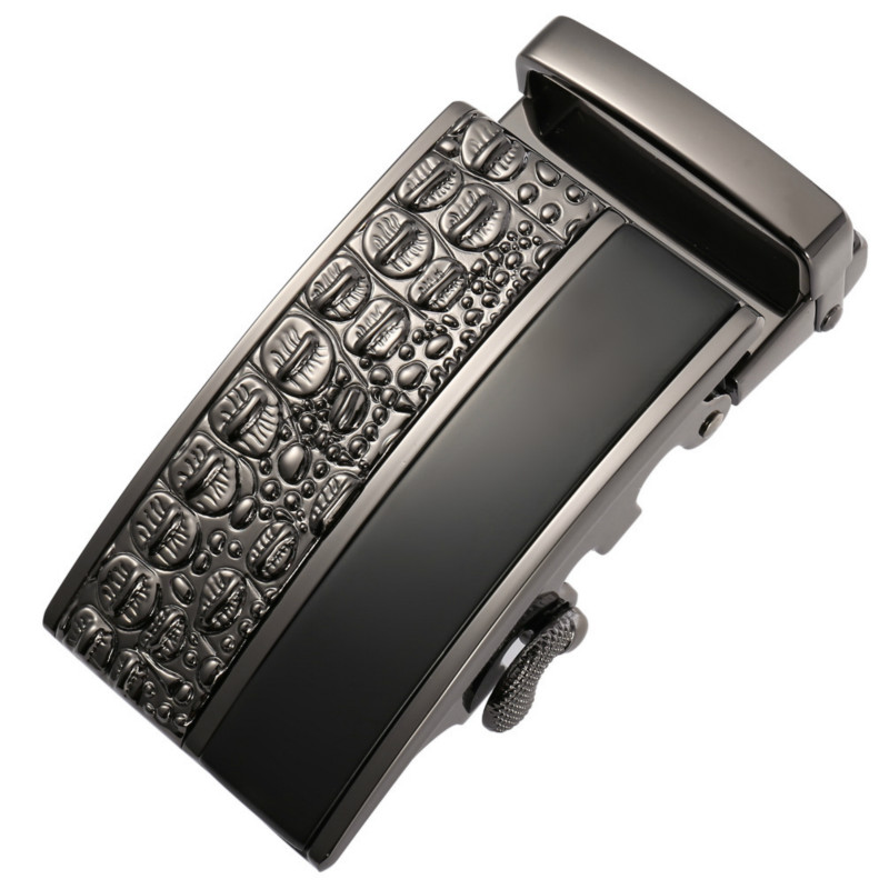 Genuine Men's Belt Head,Belt Buckle,Leisure Belt Head Business Accessories Automatic Buckle Width 3.5CM Luxury FashionLY125-0654
