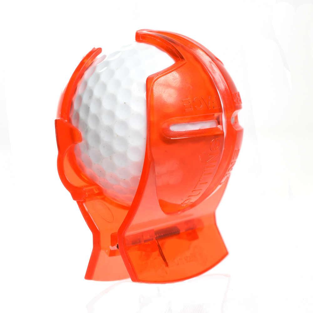 Accesorios para garabatos de Golf suministros bola de Golf transparente Línea Verde Clip Liner marcador Plantilla de alineación herramienta de marcas poner