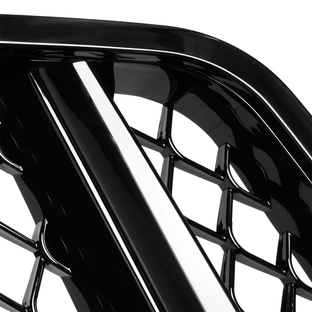 Front Bumper Grille Grill For Mercedes C Class C204 2011 2015 S204 2007 2014 W204 2007 2014 Matte Black Without Centre Logo in Racing Grills from Automobiles Motorcycles