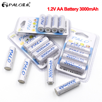 4-24pcs AA Battery Batteries 1.2V aa 3000mAh Ni-MH Pre-charged Rechargeable Battery 2A for Camera high capacity aa battery new arrival 4pcs pkcell 1 2v aa ni mh 2600mah lsd rechargeable batteries bateria pre charged batteries set with 1200 cycle