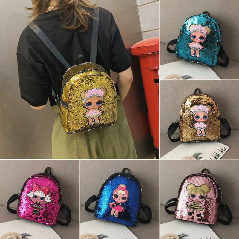 NEW 2020 Fashion Women Chilren Kids Girls Mini Sequin Backpack School Bag Small Travel Handbag Shoulder Bag