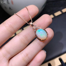 The Best engagement Gift Opal Pendant Natural And Real Opla necklace pendant Free shipping 925 sterling silver Natural real opal(China)