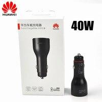 Orijinal 40W Huawei P30 Pro araba şarjı süper şarj çift Usb hızlı şarj araç şarj cihazı için Mate 20 30 10 9 Pro P20 P10 P9 Nova 6 5