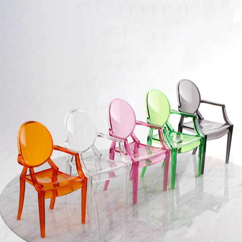 1:6 casa de bonecas em miniatura acessórios mini casa de boneca transparente cadeira de plástico mobiliário decoração coleção presente