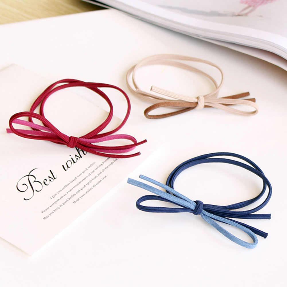5 цветов, Однотонные эластичные резинки для волос, резинки, базовый галстук-бабочка, высокая эластичность, Женская лента для волос, Детские аксессуары для волос, резина