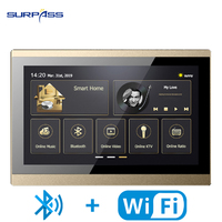 Powered WiFi Touch Screen Smart Home Stereo Wall Amplifier Home Audio Music Video System Digital 10'' Bluetooth Wall Panel RS485