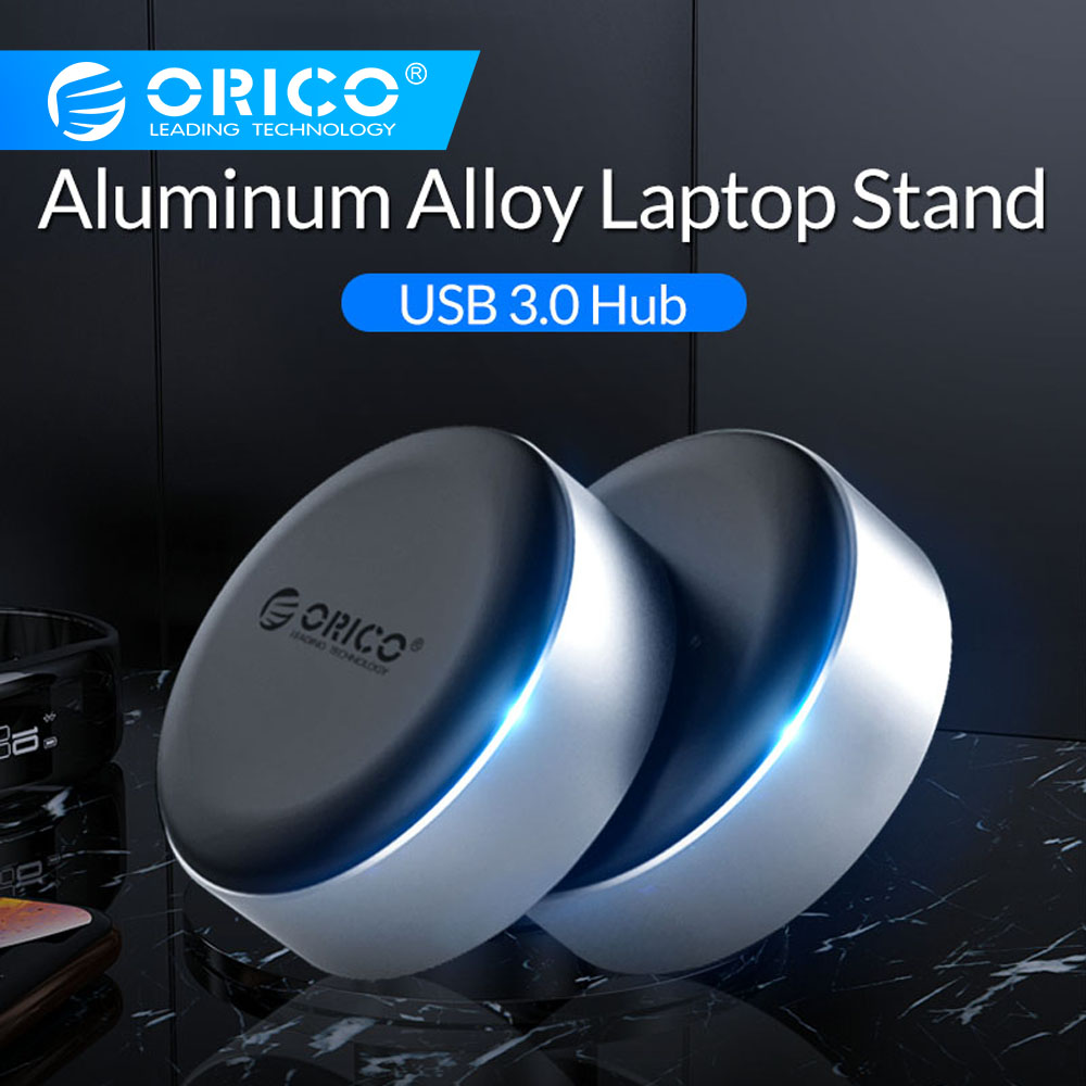 ORICO 3 Port USB 3.0 HUB With Aluminum Alloy Laptop Stand Portable Cooling Heat Dissipation Skidproof Pad USB Splitter Adapter