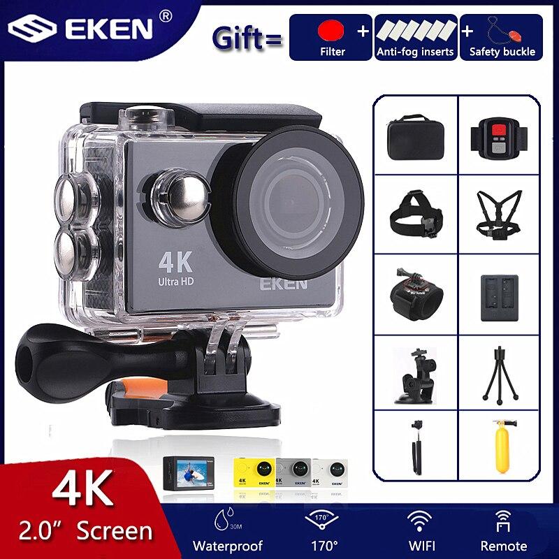 "Original EKEN H9 / H9R Action Camera Ultra HD 4K / 30fps WiFi 2.0"" 170D Underwater Waterproof Cam Helmet Vedio go Sport pro Came-0"