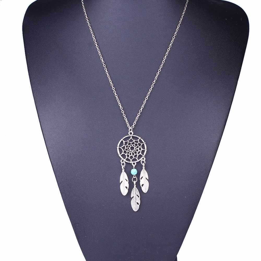 Kalung Hip Hop Perhiasan Accesorios Mujer Fashion Retro Perhiasan Dream Catcher Rantai Kalung Liontin Collares De Moda 2019