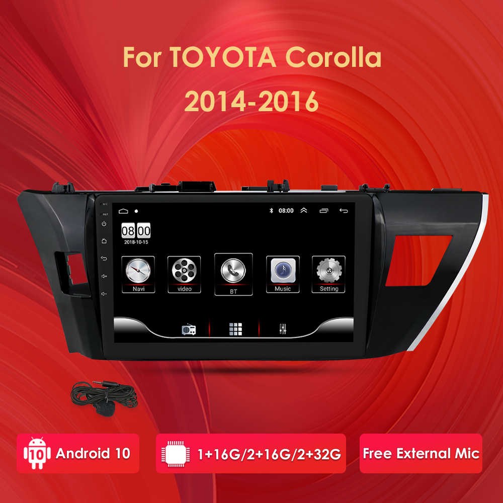 "10.1 ""2Din Android 10 Auto Radio Multimedia Video Audio Player Voor Toyota Corolla 2013 2014 2015 Auto Auto Stereo navigatie Gps"
