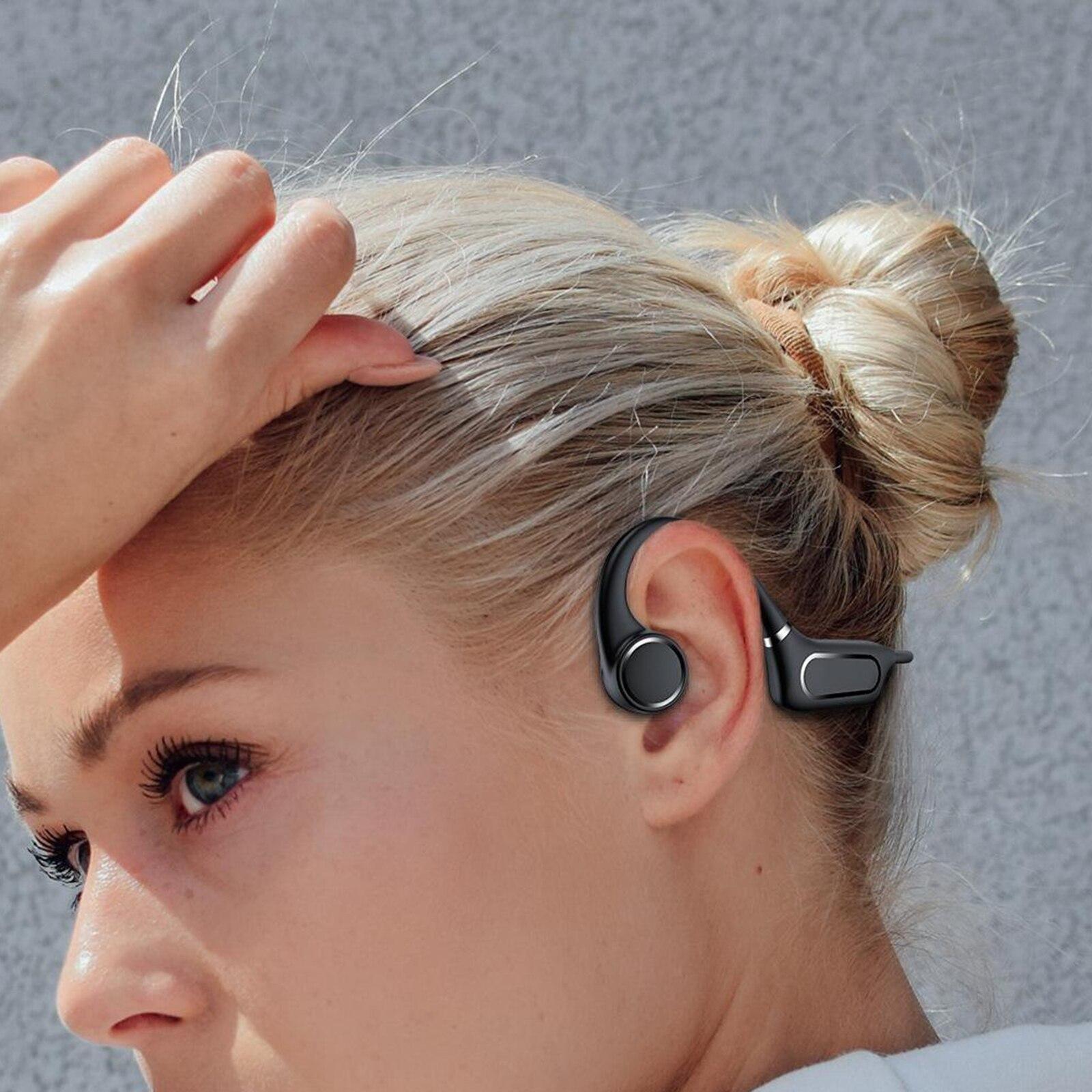 Беспроводные наушники H12 Bluetooth 5,0, наушники костной проводимости, уличная спортивная гарнитура с микрофоном, водонепроницаемость IP55