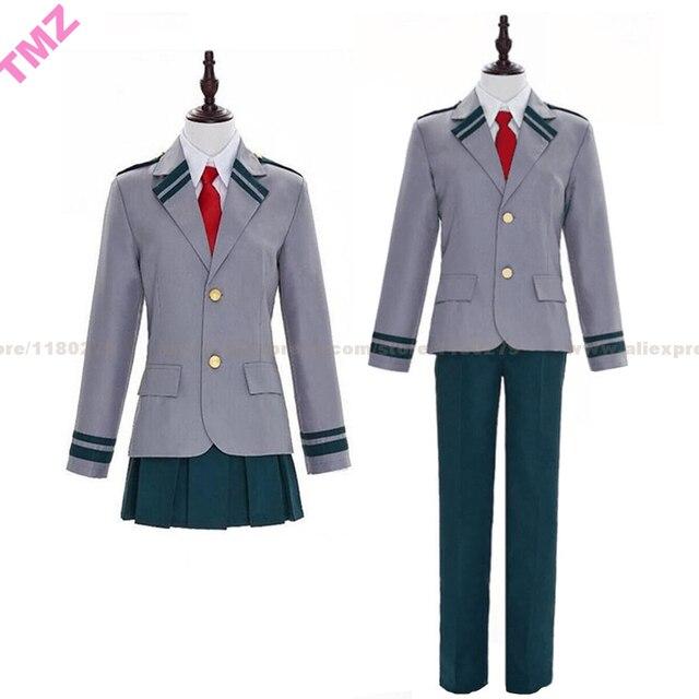 Boku Geen Hero Academia Mijn Hero Academia Schooluniform Midoriya Izuku Bakugou Katsuki Ochaco Uraraka Cosplay Kostuum