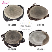 Human-Hair-Replacement-System Toupees Durable-Hairpieces French-Lace K.s-Wigs Natural