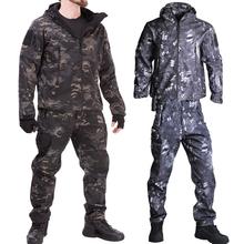 Mężczyźni Airsoft TAD kurtki taktyczne kurtka softshell mundur wojskowy sił specjalnych armii garnitur Militaire odzież męska kurtka + spodnie tanie tanio HKJL COTTON CN (pochodzenie) Poliester Airpolar 100 Szybkie suche Wodoodporna Wiatroszczelna Termiczne 1500 Pasuje prawda na wymiar weź swój normalny rozmiar