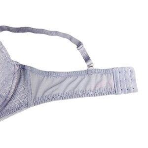 Image 4 - Mierside 1641 bej/mor artı boyutu dantel büyük sutyen katı seksi Bralette 3/4 fincan iç çamaşırı kadınlar günlük 38 46C/D/DD/DDD/E/F