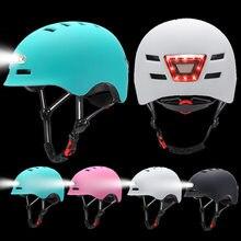 Inteligente ciclismo capacete da bicicleta com luzes de advertência à prova dwaterproof água led luz tampa farol taillight satety motocicleta ciclismo