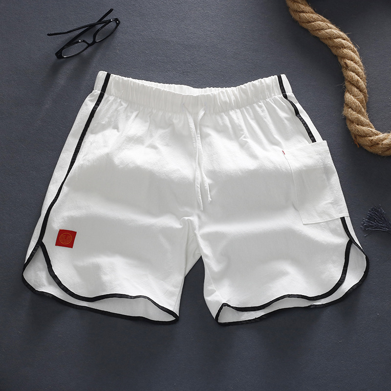 Chinese-style Japanese-style Short Cotton Pants Men's Linen Shorts Casual Pants Pants Plus-sized Menswear