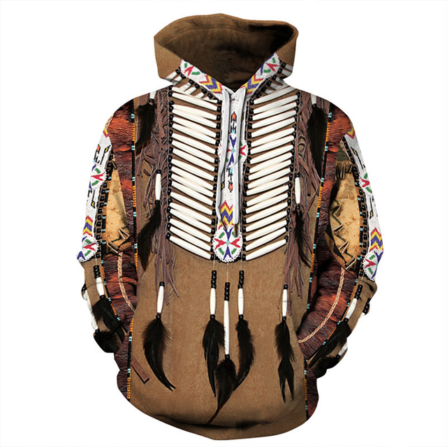 Indian Bohemian European and American Fashion Lovers  Hoodie Men's Loose Large Size 3D Printed Men's Hoodie Goes With Everything 6