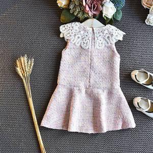 Image 5 - Sweet Fashion Princess Clothing Set For Girls Kids Children Baby Lace Dress+Long Sleeve Jacekt Coat Outwear 2pcs Suits S9638