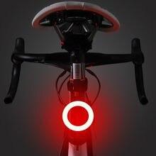 Luz da bicicleta à prova dwaterproof água traseira luz da cauda led usb recarregável mountain bike ciclismo luz lâmpada traseira
