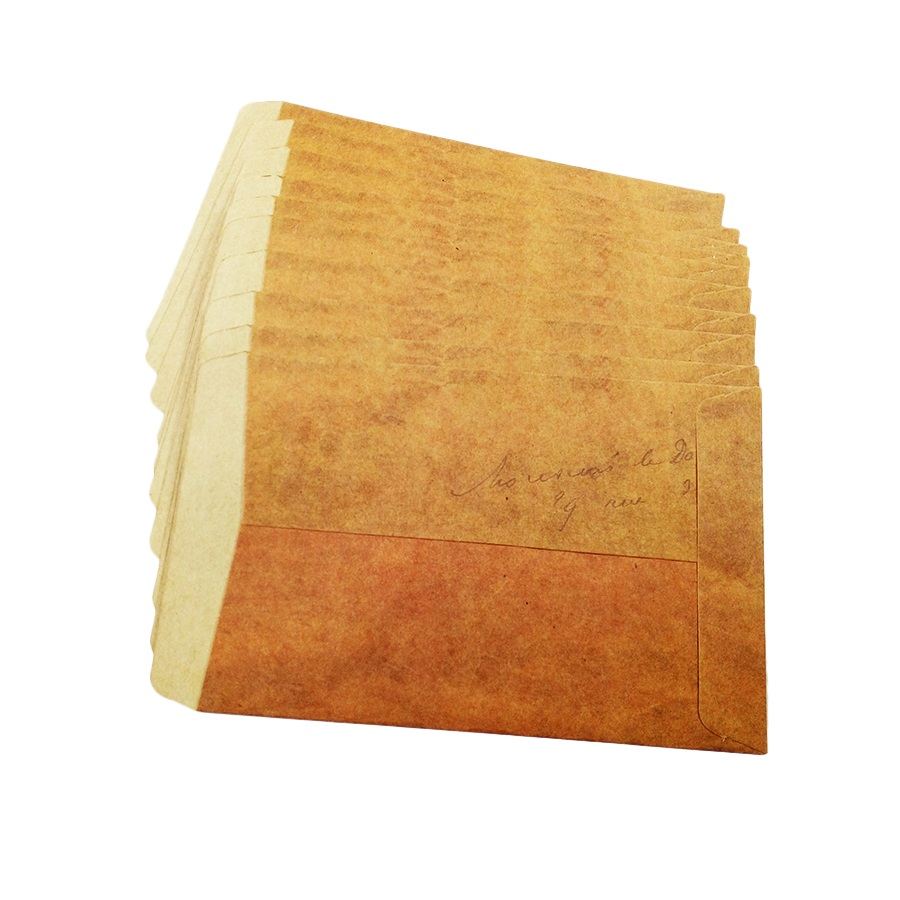 100pcs/lot 160*110mm Vintage Dark Brown Envelope Craft Envelopes Letter Stationary Wholesale