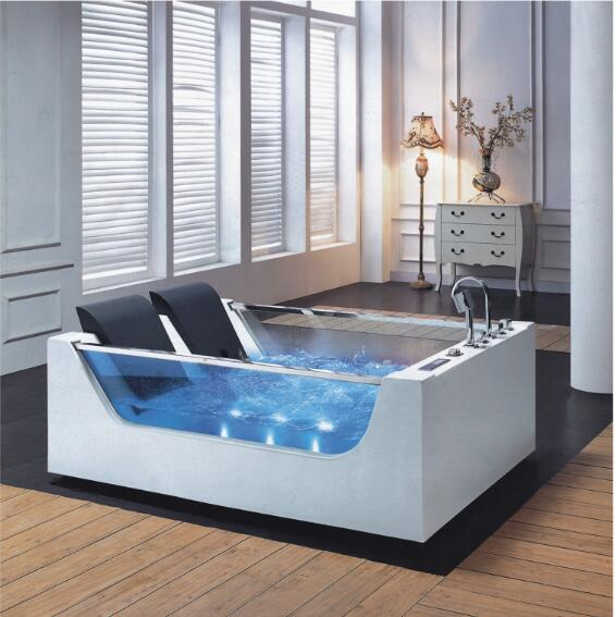 1800mm banheiro banheira de hidromassagem led colorido luzes interior spa duplo pessoas surf massagem banheira 1812-0