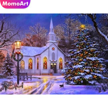 MomoArt Diamond Painting Christmas Tree Decoration Embroidery Scenic Mosaic Full Drill Home Decor Accessories