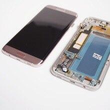 מקורי סופר AMOLED LCD מסך עבור סמסונג גלקסי S7 קצה מסך G935 SM G935F LCD תצוגת מגע Digitizer עצרת עם מסגרת