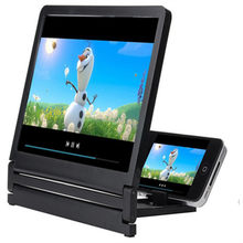 Mais novo telefone móvel tela lupa olhos proteção display 3d amplificador de tela vídeo dobrável expansor ampliado suporte
