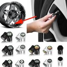 4pcs Car Wheels Tire Valve Caps Cover for VW Volkswagen CC T-ROC Golf 4 5 6 7 T4 T5 Sharan