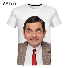 Mr. Bean Rowan Atkinson 3D Printing Short-Sleeved Well-Known Funny Movie Men's And Women'sChildren'sFashionCasual T-Shirt Top