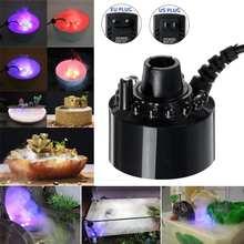 Underwater LightMist Maker LED Light Fog Machine Fountain Pond Aquarium Tank Fogger Mister Color Change Aquarium Air Humidifier