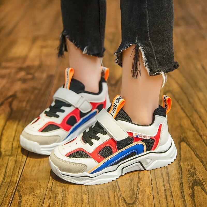 SKHEK Boys Girls Shoe Breathable Anti slip Kids Shoes Spring Autumn Hard wearing Running Sport Children Sneakers size 27 37 in Sneakers from Mother Kids