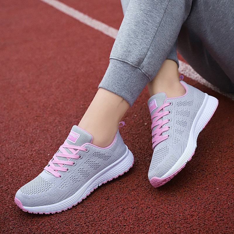 Women Sneakers Running-Shoes Female Sports Lightweight Casual Mesh Wild Soft-Bottom Non-Slip