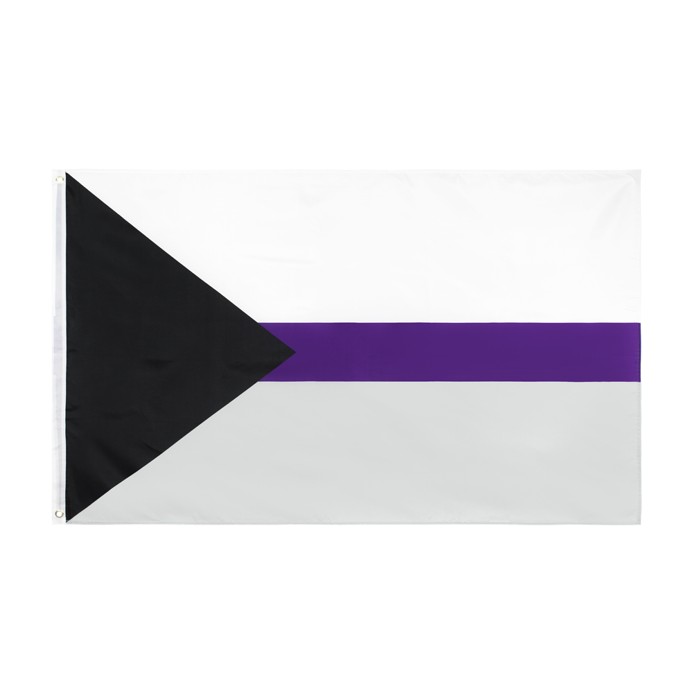 hanging 90*150cm LGBTQIA Ace Community Demi Asexuality <font><b>asexual</b></font> <font><b>pride</b></font> demisexual <font><b>Flag</b></font> For Decoration image