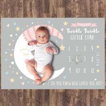 Cartoon Infant Baby Newborn Milestone Blanket