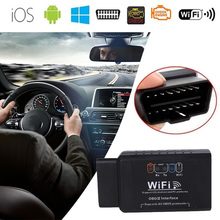 Mini OBD2 Diagnostic Tool Car Automobile Tester WIFI ELM327 Code Scanner OBDII Interface For IOS Android